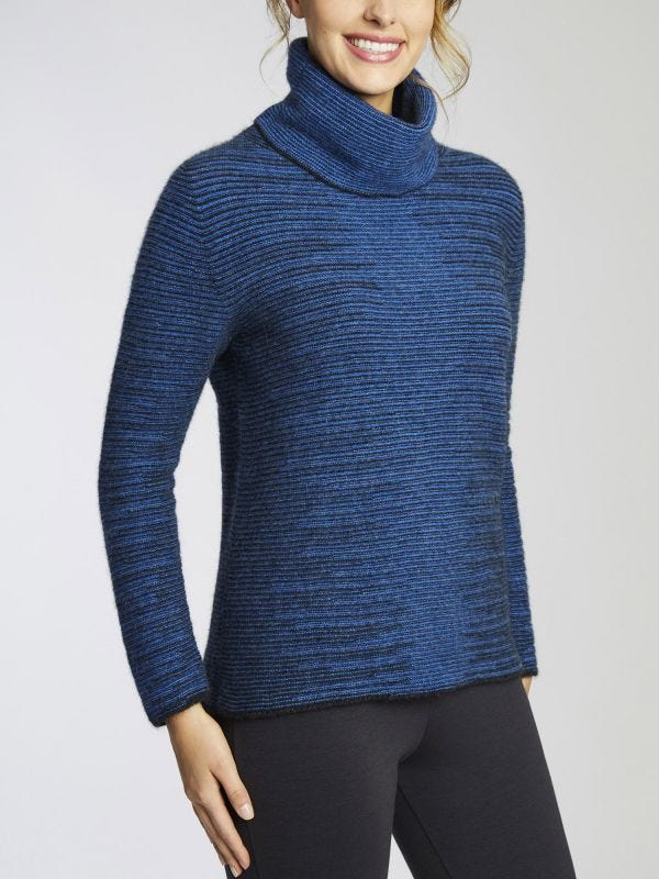 Dalton Shadow Crew Roll Neck Merino Wool Jumper
