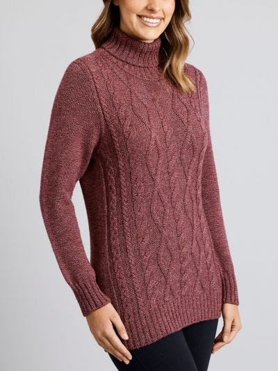 Armstrong Amble Cable Merino Wool Jumper